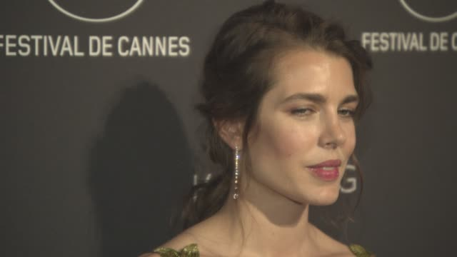 charlotte casiraghi at 'women in motion' by kering party on may 21 2017 in cannes france - monaco royalty stock videos and b-roll footage