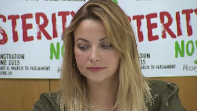charlotte church attends people's assembly anti-austerity press conference; england: london: unite: int press conference including charlotte church... - charlotte church stock videos & royalty-free footage