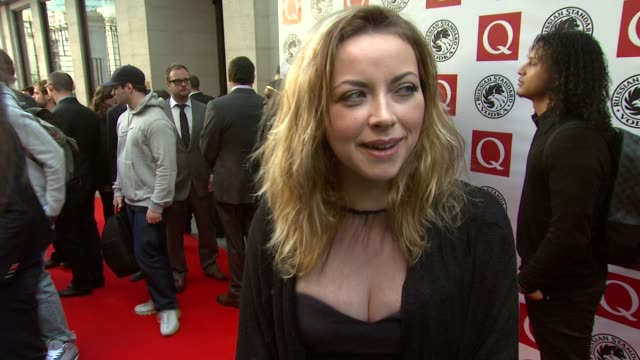 vídeos y material grabado en eventos de stock de charlotte church on launching her album, on the celebrity lifestyle at the q awards at london england. - charlotte church