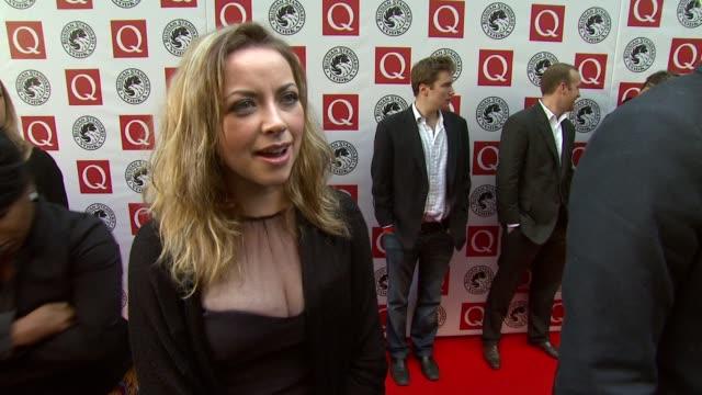 vídeos y material grabado en eventos de stock de charlotte church on making friends today at the q awards at london england. - charlotte church