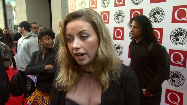 vídeos y material grabado en eventos de stock de charlotte church on staying out of the papers at the q awards at london england. - charlotte church