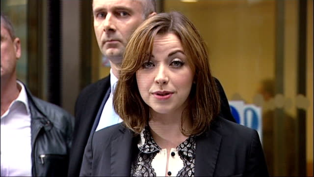 Charlotte Church settles News of the World phone hacking claim London Royal Courts of Justice The Rolls Building Various of Church through revolving...