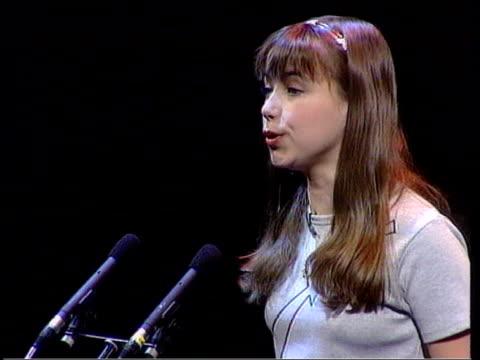 vídeos y material grabado en eventos de stock de charlotte church sued by former manager; london: charlotte church singing at concert sot: - charlotte church