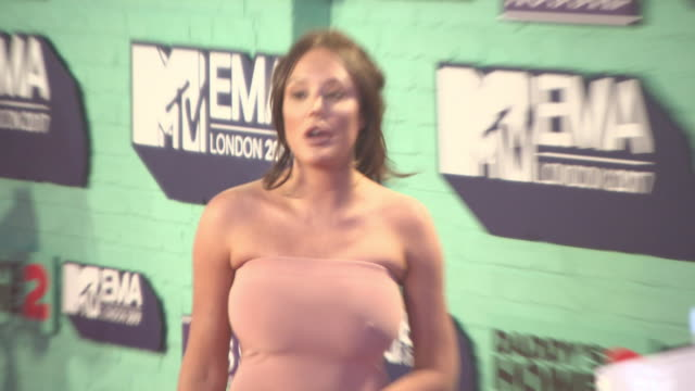 Charlotte Crosby at MTV EMA Awards at The SSE Arena Wembley on November 12 2017 in London England