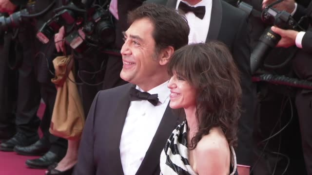 Charlotte Gainsborough Javier Bardem at The 72nd Cannes Film Festival on May 14 2019 in Cannes France