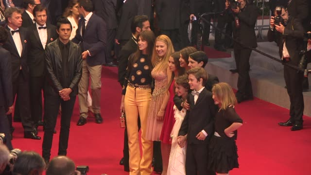 Charlotte Gainsbourg Asia Argento Giulia Salerno at 'Mommy' Red Carpet at Palais des Festivals on May 22 2014 in Cannes France