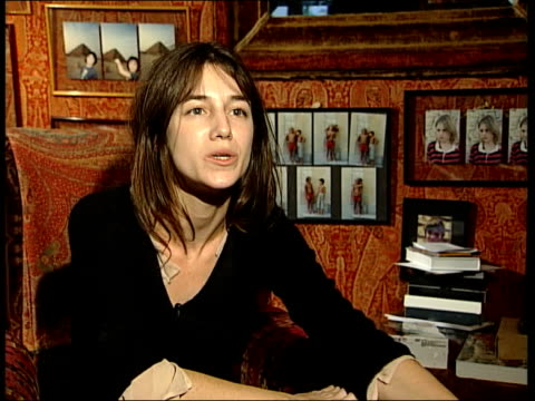 charlotte gainsbourg interviewed sot thay had very different rhythm of day they lived at night we weren't so we missed lot of them / but nothing was... - rhythm stock videos and b-roll footage