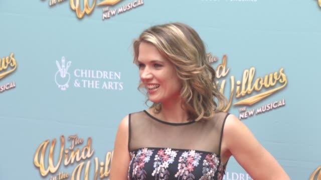 stockvideo's en b-roll-footage met charlotte hawkins at the wind in the willows press night / vip gala at london palladium on june 29 2017 in london england - london palladium