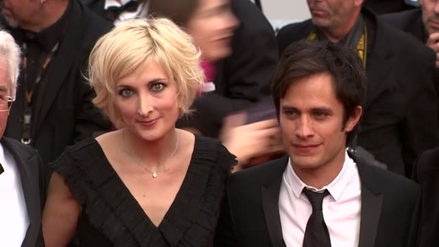 charlotte lipinska with camera d'or jury president gael garcia bernal at the robin hood red carpet: cannes film festival 2010 at cannes . - film award type stock videos & royalty-free footage