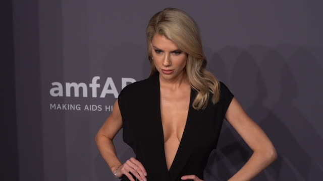 charlotte mckinney at the 21st annual amfar gala new york at cipriani wall street on february 06 2019 in new york city - amfar stock videos & royalty-free footage