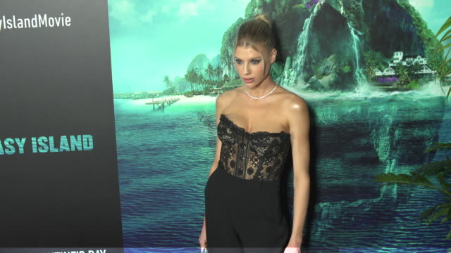 charlotte mckinney at the blumhouse's fantasy island premiere at amc century city 15 theater on february 10 2020 in century city california - century city stock videos & royalty-free footage