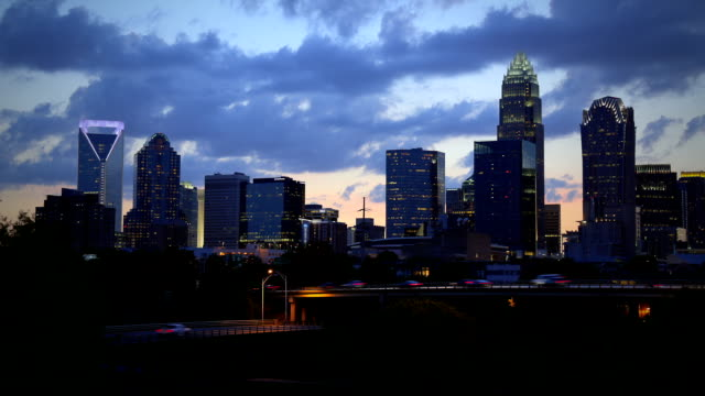 charlotte north carolina time lapse - charlotte north carolina stock videos & royalty-free footage
