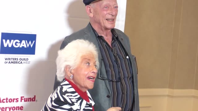 charlotte rae alan mandel at the actors fund's tony awards viewing gala at the beverly hilton hotel in beverly hills at celebrity sightings in los... - 70th annual tony awards stock videos and b-roll footage