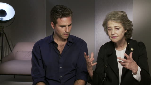 charlotte rampling, andrea pallaoro on how the right roles will come to you if you will them at 'hannah' interviews - 74th venice international film... - 第74回ベネチア国際映画祭点の映像素材/bロール