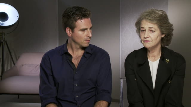charlotte rampling, andrea pallaoro on the character trying to find her voice, how the character expresses herself at 'hannah' interviews - 74th... - charlotte rampling stock videos & royalty-free footage