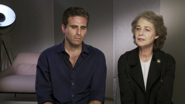 charlotte rampling, andrea pallaoro on whether the character of hannah is a victim, how charlotte and andrea were meant to meet and the observational... - charlotte rampling stock videos & royalty-free footage
