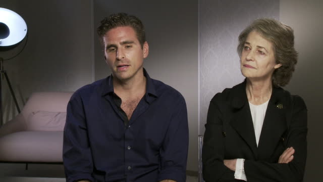 charlotte rampling, andrea pallaoro on why hannah's movements were so important to the film at 'hannah' interviews - 74th venice international film... - charlotte rampling stock videos & royalty-free footage