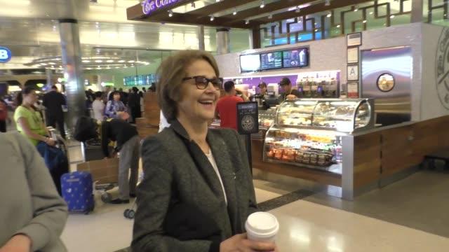 charlotte rampling arriving at lax airport in los angeles in celebrity sightings in los angeles, - charlotte rampling stock videos & royalty-free footage
