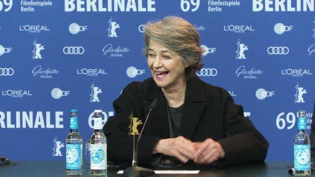 charlotte rampling at 69th berlinale international film festival on february 07, 2019 in berlin, germany. - charlotte rampling stock videos & royalty-free footage