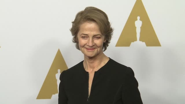charlotte rampling at the 88th annual oscars® nominees luncheon at the beverly hilton hotel on february 08, 2016 in beverly hills, california. - charlotte rampling stock videos & royalty-free footage