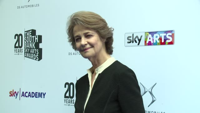 charlotte rampling at the savoy hotel on june 05, 2016 in london, england. - charlotte rampling stock videos & royalty-free footage