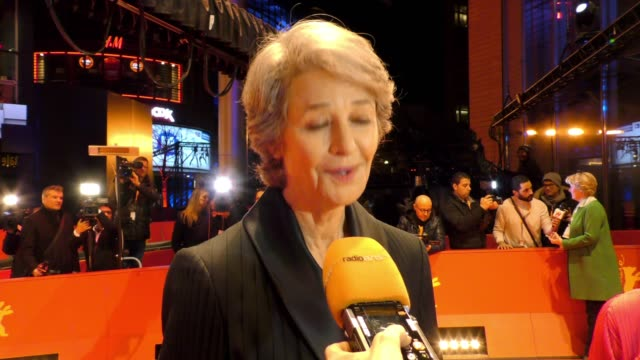 charlotte rampling attends the hommage charlotte rampling honorary golden bear award ceremony during the 69th berlinale international film festival... - charlotte rampling stock videos & royalty-free footage