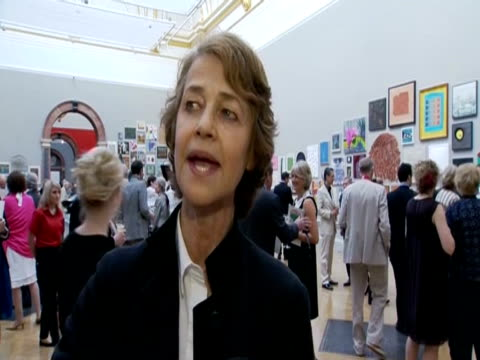 vídeos de stock, filmes e b-roll de charlotte rampling on art in the uk at the royal academy of arts the night of the diamond jubilee awards - royal academy of arts