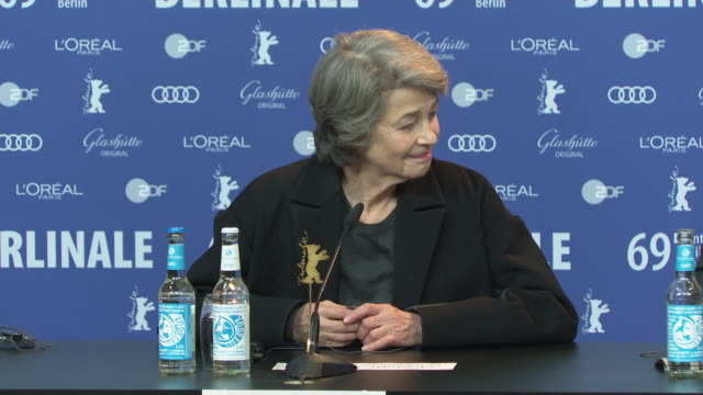 charlotte rampling on being selected as president of the berlinale jury in 2006 at 'honorary golden bear / homage charlotte rampling' press... - charlotte rampling stock videos & royalty-free footage
