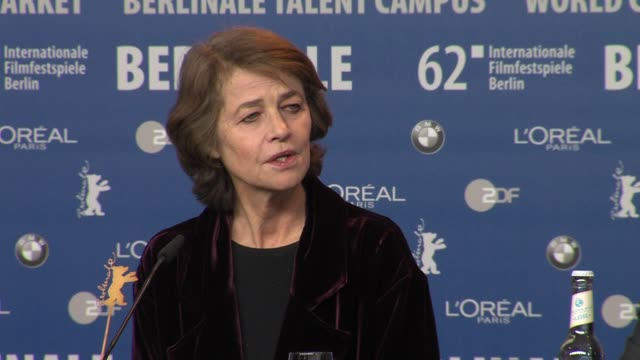charlotte rampling on her character at i, anna press conference: 62nd international film festival 2012 at the grand hyatt on february 12, 2012 in... - charlotte rampling stock videos & royalty-free footage