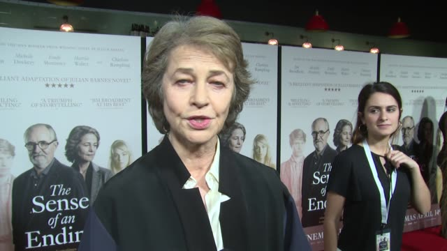 charlotte rampling on the movie, unexpected life turns and the books writer on april 06, 2017 in london, england. - charlotte rampling stock videos & royalty-free footage
