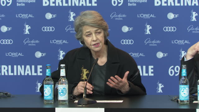 charlotte rampling on the ongoing responsibility held by actors on the choices and the roles they accept at 'honorary golden bear / homage charlotte... - charlotte rampling stock videos & royalty-free footage
