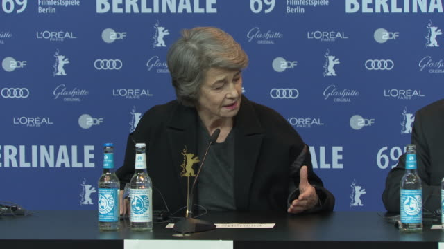 charlotte rampling on working with director liliana cavani on the nightporter at 'honorary golden bear / homage charlotte rampling' press conference... - charlotte rampling stock videos & royalty-free footage