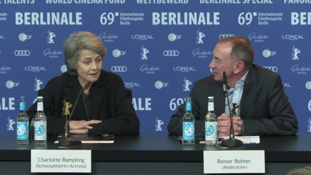 charlotte rampling on working with film director luchino visconti, and how working with him shaped her vision of different styles of filmmaking... - charlotte rampling stock videos & royalty-free footage