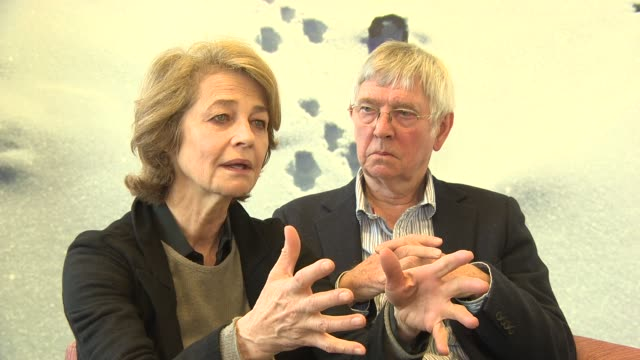 interview charlotte rampling tom courtenay on acting naturally at '45 years' interviews 65th berlin film festival at skandic hotel on february 05... - tom courtenay stock videos & royalty-free footage