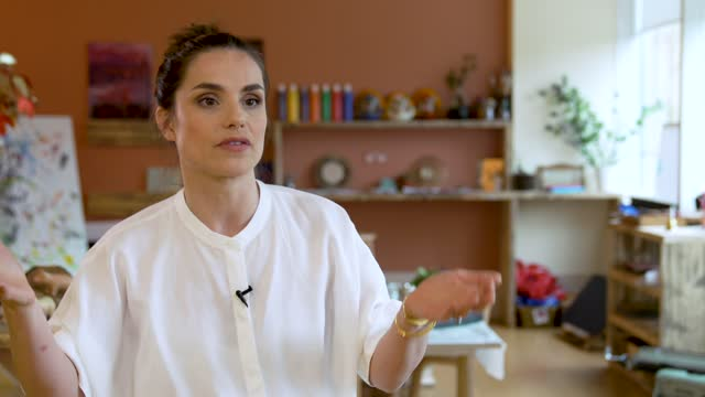 charlotte riley on talking about having her first child, people having to scramble around to find childcare and this nursery the lack of support the... - choosing stock videos & royalty-free footage