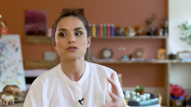 charlotte riley on talking to parents and seeing the advantages of the nursery at warner bros studios on april 06, 2021 in london, england. the... - parent stock videos & royalty-free footage