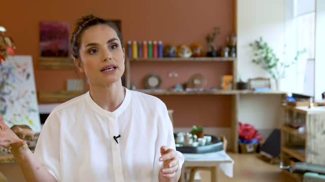 charlotte riley on why this nursery is an industry first, the challenges of creating a nursery and the help from warner brothers at warner bros... - brother stock videos & royalty-free footage