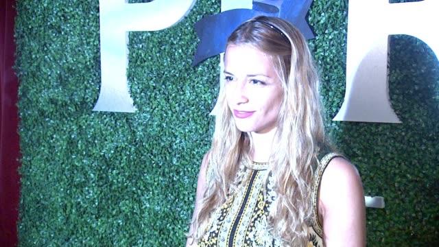 vídeos de stock, filmes e b-roll de charlotte ronson at margherita missoni x peroni nastro azzurro fall fashion collaboration debut at gramercy park hotel on september 8 2015 in new... - missoni