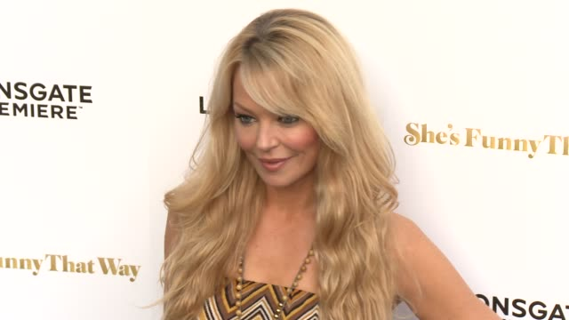 """charlotte ross at the """"she's funny that way"""" los angeles premiere at harmony gold theatre on august 19, 2015 in los angeles, california. - she's funny that way点の映像素材/bロール"""