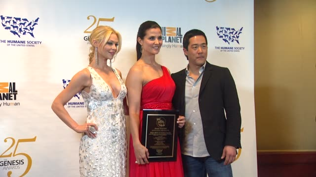 Charlotte Ross Lu Parker Tim Kang at the The 25th Anniversary Genesis Awards Presented By The Humane Society Of The United States at Century City CA
