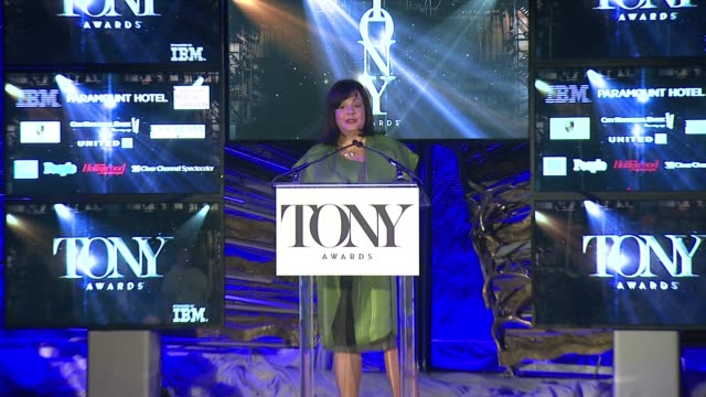 charlotte st. martin, executive director, the broadway league at 2015 tony award nominations announces recipient of the regional theatre award,... - executive director stock videos & royalty-free footage