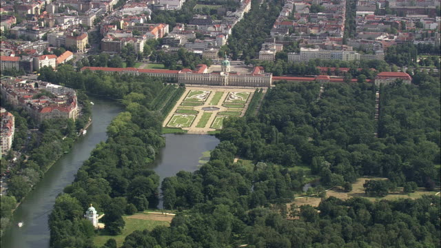 aerial charlottenburg palace, berlin, brandeburg, germany - charlottenburg palace stock videos & royalty-free footage