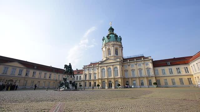 charlottenburg palace / berlin, germany - palace video stock e b–roll