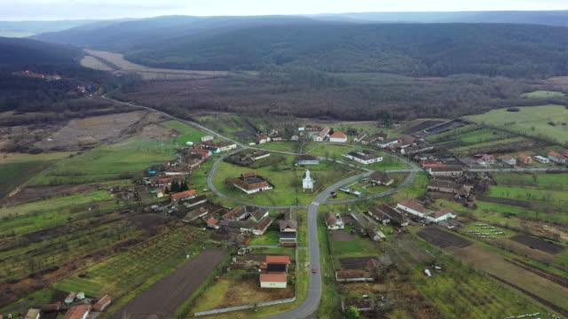charlottenburg, the round-shaped village in romania - siebenbürgen stock-videos und b-roll-filmmaterial