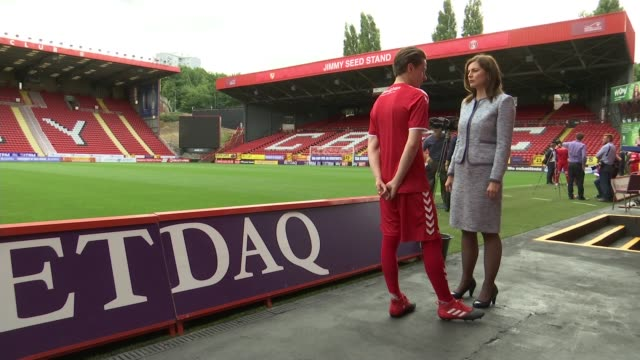 charlton athletic becomes first professional side to launch lgbt team; england: london: charlton: the valley: ext various shots lgbt young players on... - omofobia video stock e b–roll