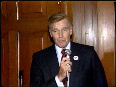 charlton heston at the right to work reception at sherman oaks in los angeles california on october 17 1987 - sherman oaks stock videos & royalty-free footage