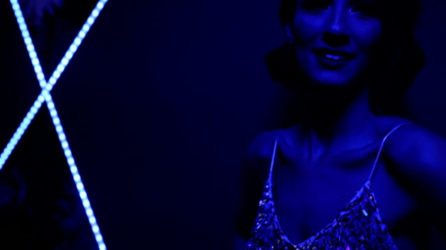 charming lady in glittering dress - upper class stock videos & royalty-free footage