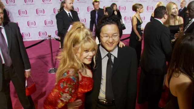 Charo and Masi Oka at the TV Land Awards at Barker Hanger in Santa Monica California on April 14 2007