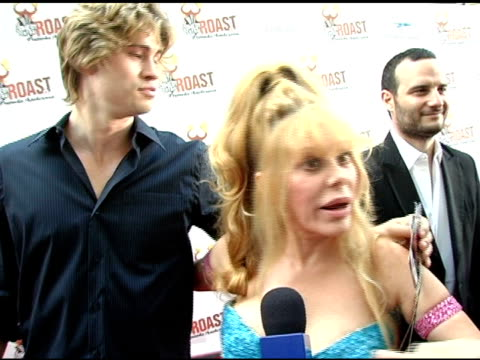 charo on her son being her date on why she admires pamela on pamela having a good sense of humor on working with pamela on the roastees going after... - maraca stock videos & royalty-free footage