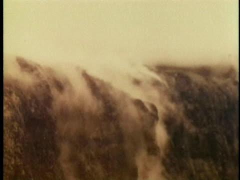 1970 MS Charred and smoking volcanic landscape near Kilauea volcano / Hawaii / AUDIO